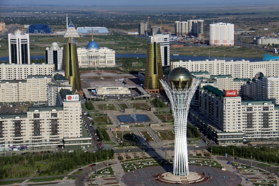 View of downtown Astana, the new capital of Kazakhstan. Photo: Almas Dissyukov/ World Bank
