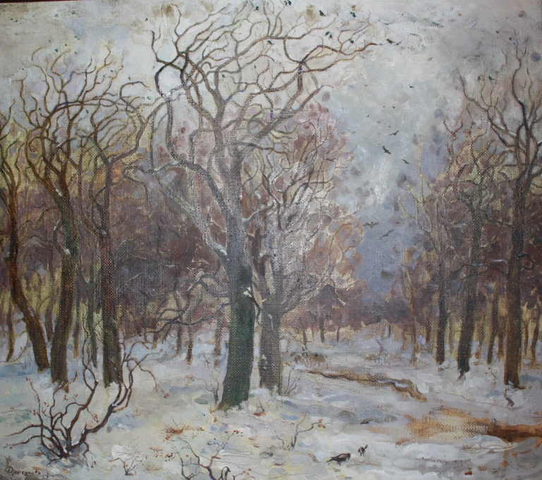 'Gloomy Park' by P.G. Dragunov, 1992, 56 x 50 cm, oil on canvas
